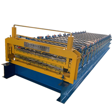 Hydraulic Cutting Double Trapezoidal Roll Forming Machine