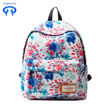 New waterproof leisure backpack dazzle colorful graffiti