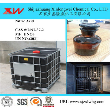 Nitric acid in black IBC drum
