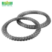 Cross Galvanized Steel Concertina Coil Razor Barbed Wire