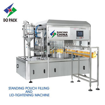 Stand up pouch filling machine for liquid juice