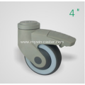4 Inch Hollow Rivet Swivel TPR PP Material With Bracket Medical Caster
