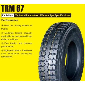 High Performance Truck Tyre 11R22.5 TRM67