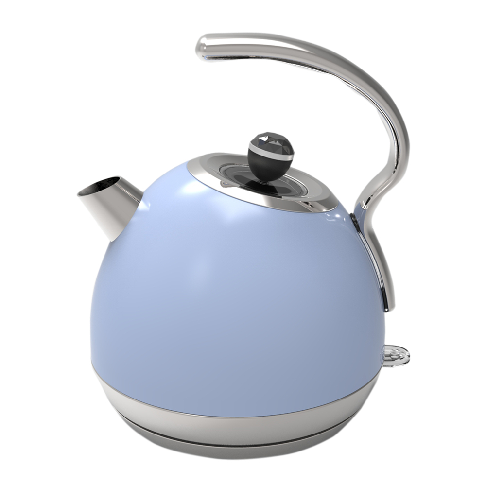 Painting Blue Electric Kettle