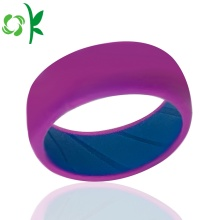 Layer Fashion Ring Custom Silicone Elastic Couple Ring