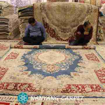 7.2'x10.3' Traditional Handwoven Silk Iranian Rug