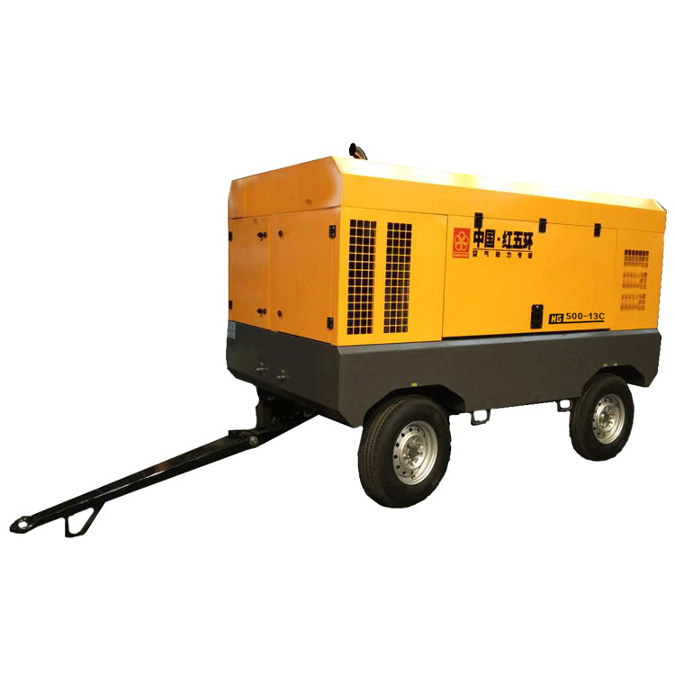 Hot HG550-13C two wheel diesel air compressor