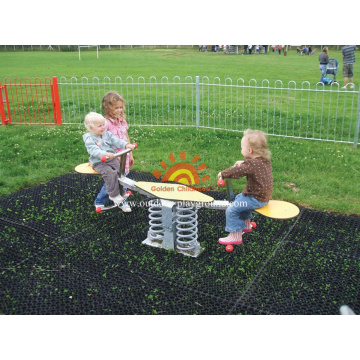 Twin Rider HPL Playground Spring Seesaw Structure
