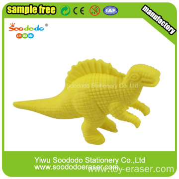 Yellow Dinosaur Shaped Eraser,Rubber Dinosaur toy eraser
