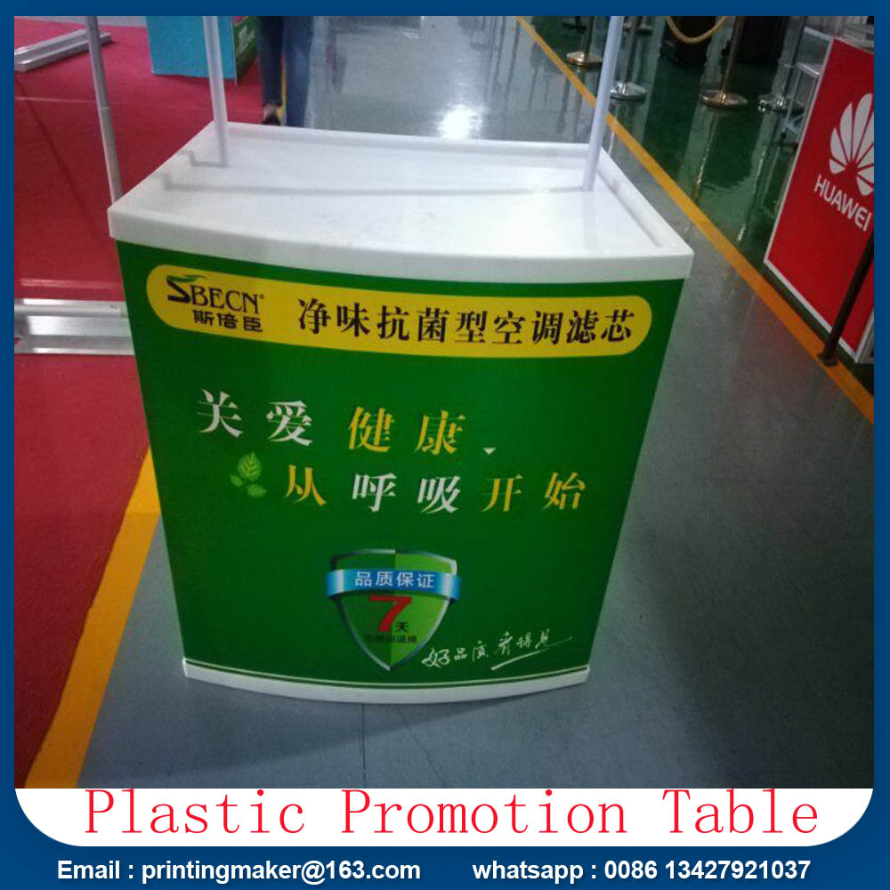 Strong ABS Plastic Promotion Counter Table