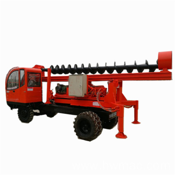 Auger Pile Driving Machine With Pole Erection Function