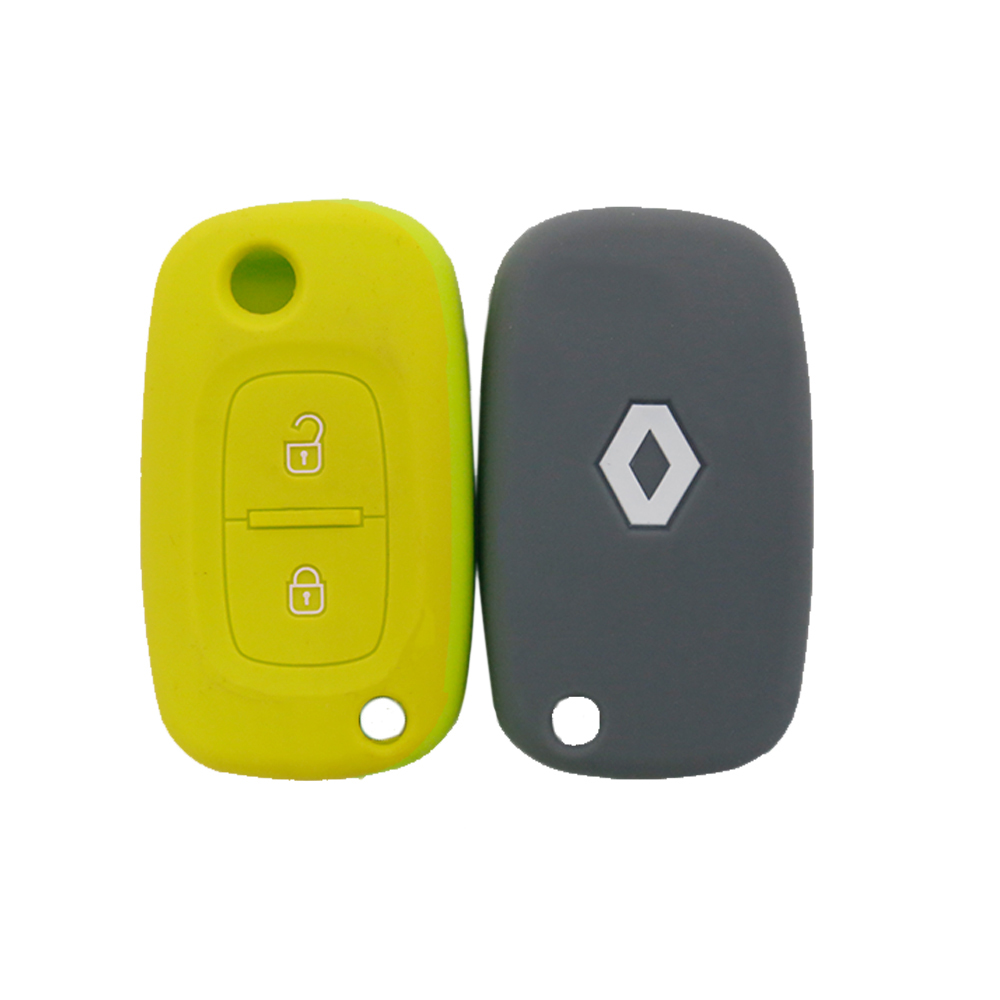 Embossed Silicon Renault Car Key Cover