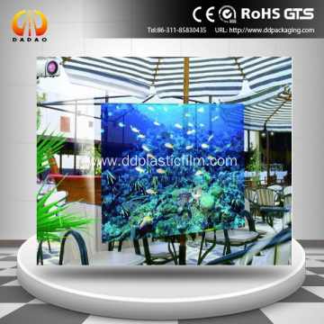 dark grey hologram projection film for window display