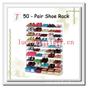 50 pair Iron shoe rack