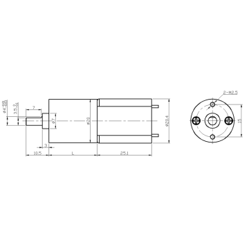 dc spur gearbox motor for smart lock