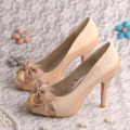 Green Bows Brides Shoes for Wedding