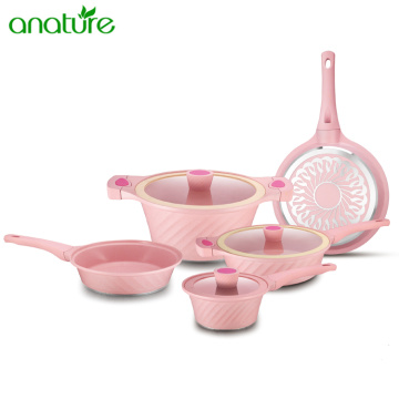 Aluminum Die Cast Marble Nonstick Cookware Set