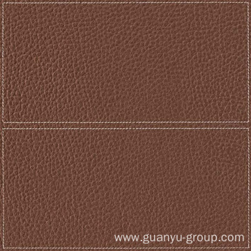 Brown Leather With Frame Decoration Rustic Tile