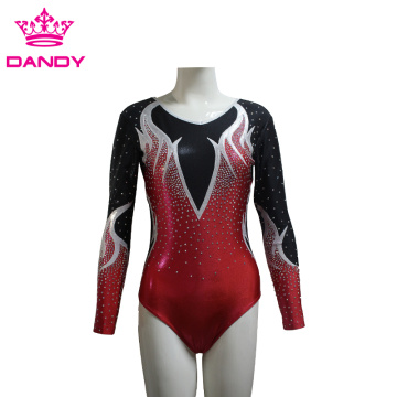 Long Sleeves Gymnastics Leotard For Girls