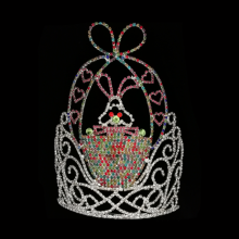 "China for Easter Butterfly Shaped Crowns 10"" Wholesale Rhinestone Large Rabbit Crown For Sale supply to Cambodia Factory"
