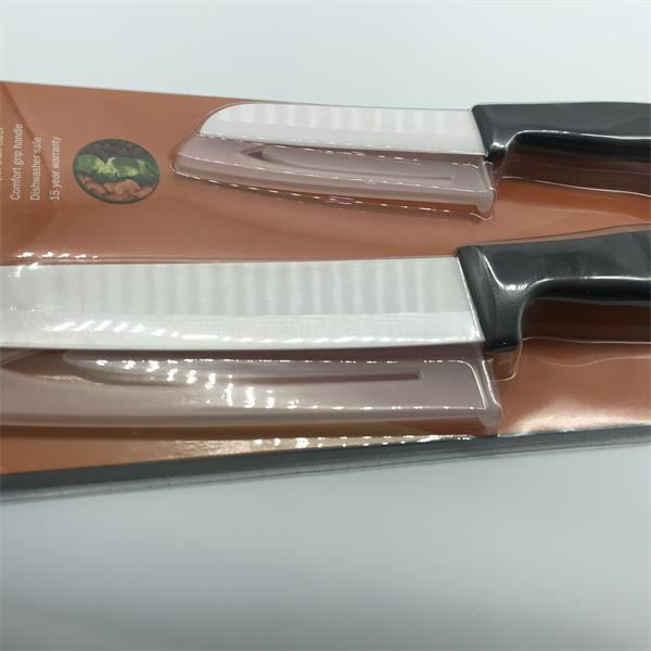 Set of 2 ceramic santoku knives