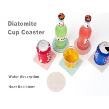 Healcier Diatomite Cup Coaster With Logo Printing