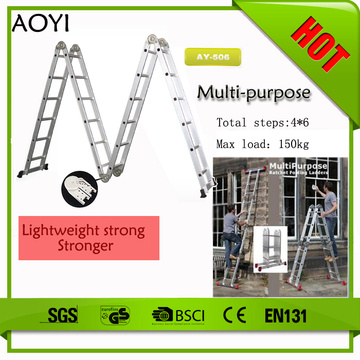 6step 6.8m folding aluminum ladders