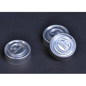 Tear-off cap for glass infusion bottle