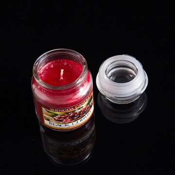 Double Holiness brand fruit scented glass jar candle