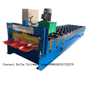 Color steel roof tiles making machine price