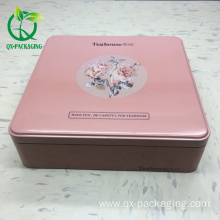 tea box square tin box chinese style