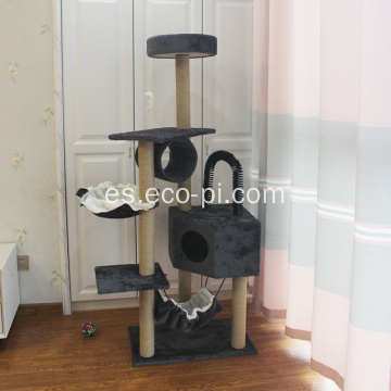 Multi-Level Cat Tree Condo con postes de rascado de sisal