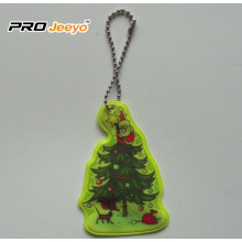 Reflective Safety Christmas tree Key Chain