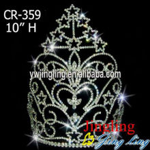 America Miss star high quality rhinestone tiaras crowns