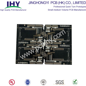 Leading for 2 Layer PCB Double Sided PCB Black FR4 1.6mm 1oz export to Poland Manufacturer
