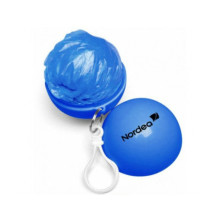 pe disposable rain ponch in ABS ball