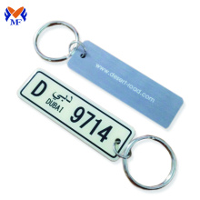 Car number plate cute keychain idea