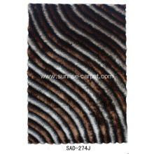 Polyester Silk Shaggy 3D with Design