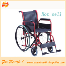 Manual powder coating steel wheelchair