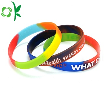 Gradients Energy Bands Slap-up Silicone Powder Wristbands