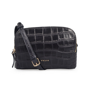 Double Zippers Crocodile Bags Single Strap Crossbody Bag