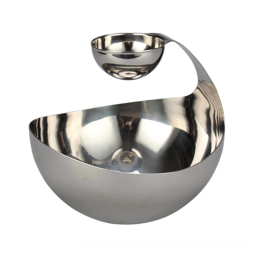 Tiered And Divided Salad Bowl