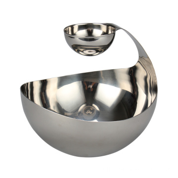 Tiered And Sivided Salad Bowl For Serving Snacks