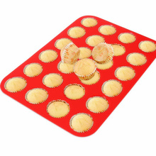 Super soft silicone material cupcake bakeware molds