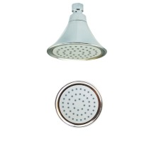 Portable Chrome Round Rainfall Hand Shower Head