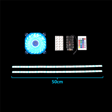 120mm Quiet Cooling Fan With Colored LED Lights