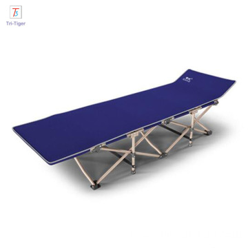 Wholesale Durable Aluminum blue gray red Portable Military Folding Camping Bed