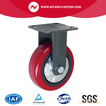 Russet Color PU Wheel Fixed Heavy Duty Caster