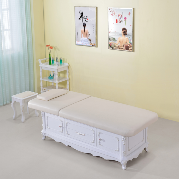 Spa salon furniture wooden frame massge table