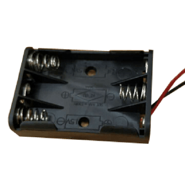 3 AAA Battery Holder Case with Wire leads